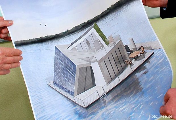 Schwimmendes Selbstversorgerhaus am Bergheider See