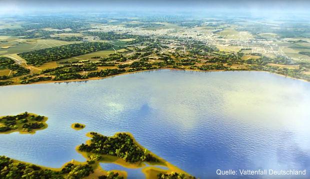 geplanten Tagebausee Cottbuser Ostsee
