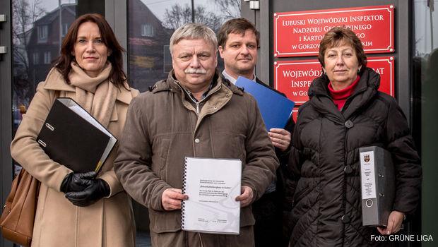 Vertreter der Grenzregion in Gorzów. Von links nach rechts: Birgit Jeschke, Peter Jeschke, Andreas Stahlberg, Silvia Eichenfeld