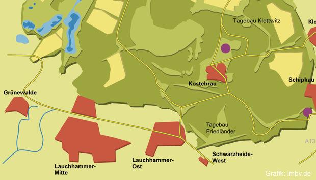 Bauwasser-Einleitung in Lauchhammeraner See