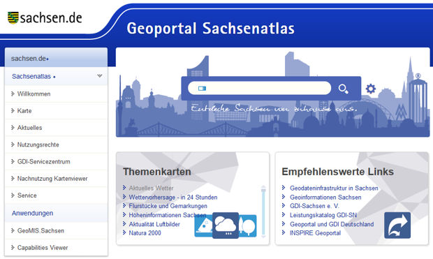 Geoportal Sachsen