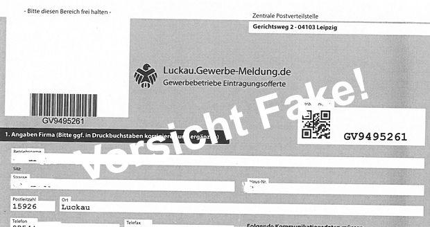 Gewerbeverzeichnis Fake