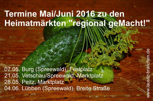Heimatmarkt *Regional geMacht!* in Burg (Spreewald)