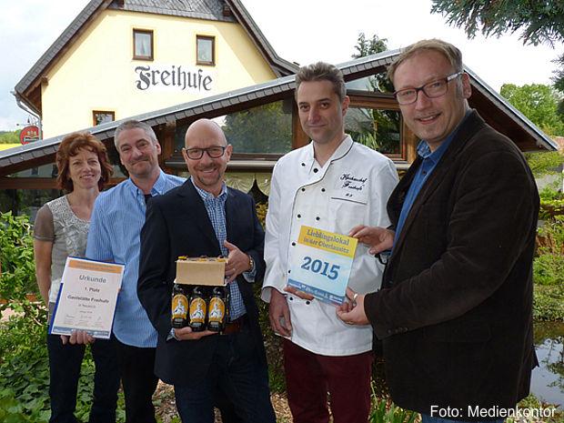 """Erster Platz geht an die Gaststätte """"Freihufe"""" in Neukirch/Lausitz"""