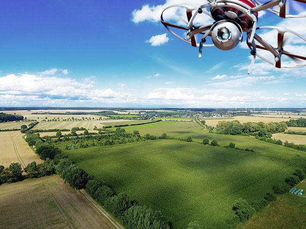 Drohnen auf dem Acker