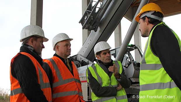 Frank Schollmayer, Manfred Boguslawski, Dr. Martin Wilke, Christopher Nüßlein © Stadt Frankfurt (Oder)