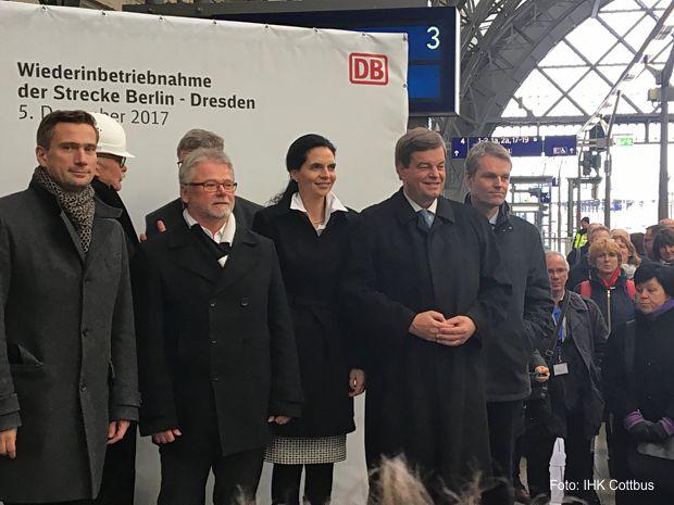 Sonderfahrt am 5. Dezember des Intercity-Zuges IC 2 von Berlin über Luckau/Uckro, Doberlug Kirchhain und Elsterwerda bis nach Dresden