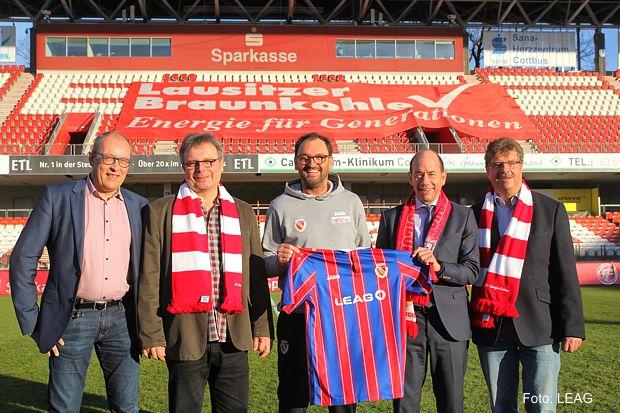 LEAG steht dem FC Energie Cottbus e.V. als Sponsor und Partner weiterhin fest zur Seite
