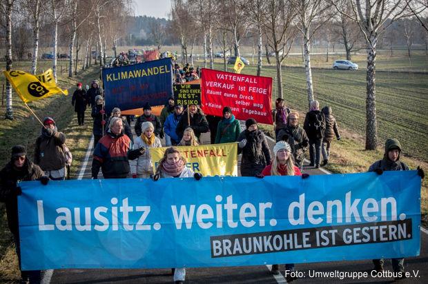 Sternmärsche: Protest gegen Tagebauschäden