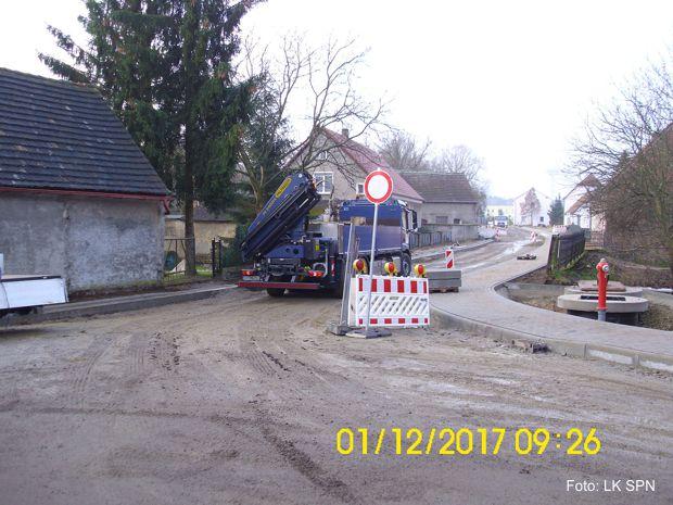 Straßenbaustelle K 7101- Döbern- Eichwege