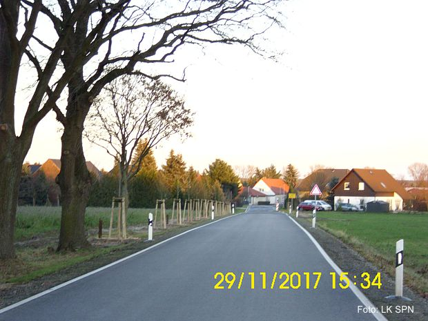 Straßenbaustelle K 7113- Roggosen /Koppatz