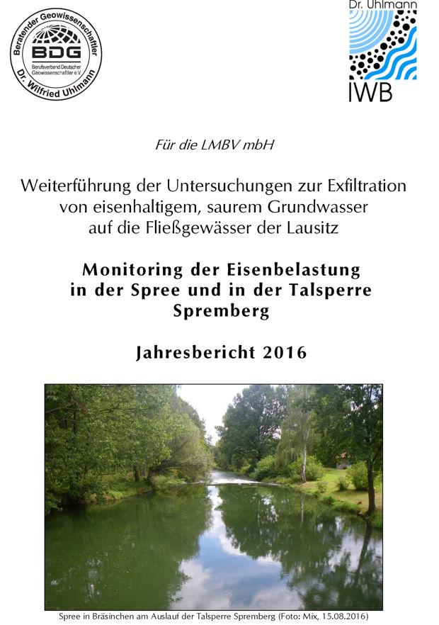 Jahresbericht zur Eisenbelastung der Spree und Talsperre Spremberg