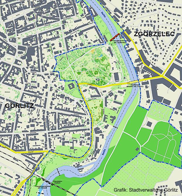 deutsch-polnischen Gebiete gekennzeichnet, mit deren Aufwertung die grenzüberschreitende Idee des Gesamtprojektes Brückenpark werden soll