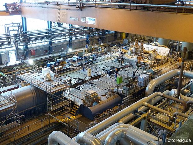 Hauptrevision im Kraftwerk Jänschwalde