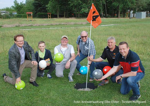 Fußballgolf-Angebot von Unternehmer Andreas Pöhle in Finsterwalde