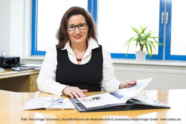 Petra Kröger-Schumann, Geschäftsführerin der Medizintechnik & Sanitätshaus Harald Kröger GmbH