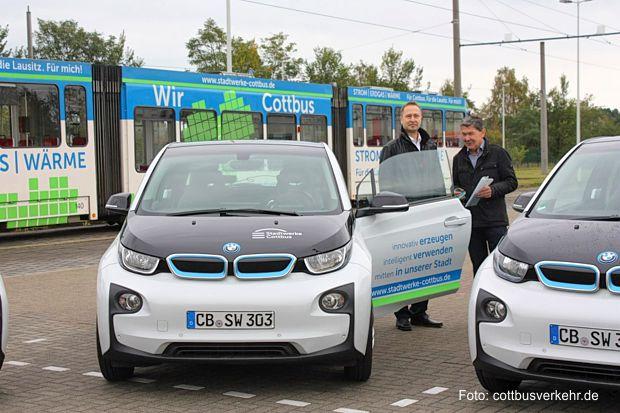Die Elektroautos der Cottbuser Stadtwerke