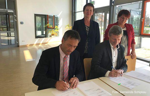 Unterzeichnung Gaskonzessionsvertrag für Schipkau