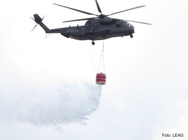 Bundeswehr-Hubschrauber im Einsatz