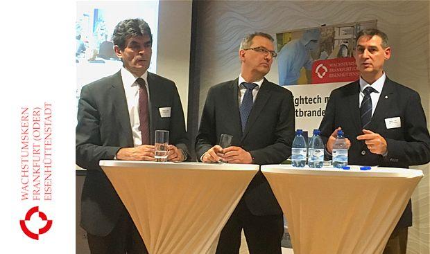 Bürgermeister Frank Balzer äußerte beim 1. Innovationsforum des Regionalen Wachstumskerns Frankfurt (Oder)/ Eisenhüttenstadt (RWK)