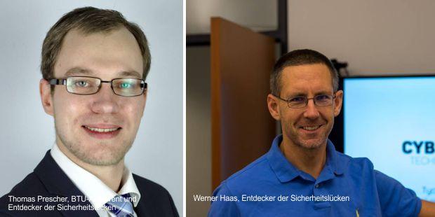 Thomas Prescher ist Software Architekt und Werner Haas, Entdecker der Sicherheitslücken