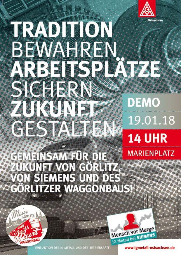 Siemens und Bombardier: Aufruf zur Großdemonstration