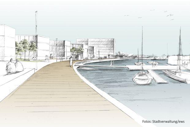 Cottbuser Hafenquartierentwürfe