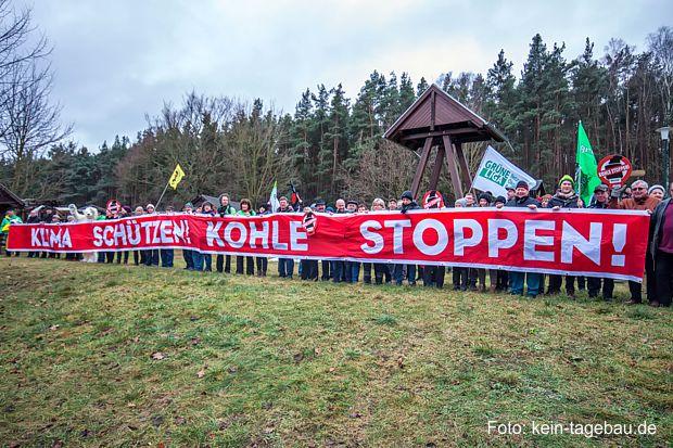 Protestwanderung gegen den Braunkohletagebau Jänschwalde