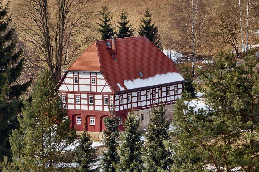 Umgebindehaus in der Oberlausitz