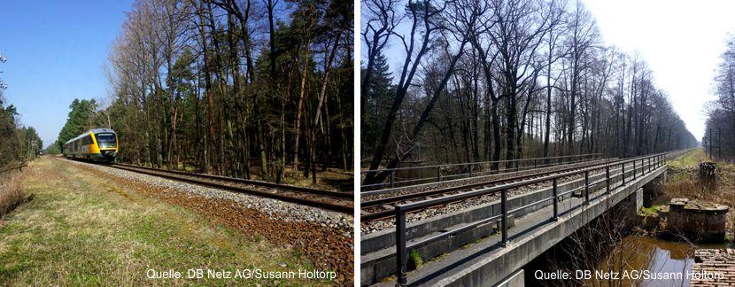 Durch die Fortführung des Tagebaubetriebs in Reichwalde ist die Verlegung der Strecke zwischen Weißwasser und Rietschen notwendig Quelle: DB Netz AG/Susann Holtorp