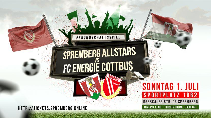 Freundschaftsspiel der Stadtauswahl Spremberg ALLSTARS gegen den Aufsteiger FC Energie Cottbus