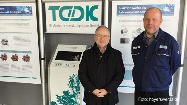 Am 01. März 2017besuchte Oberbürgermeister Stefan Skora das Unternehmen TD Deutsche Klimakompressor GmbH (TDDK) in Straßgräbchen.