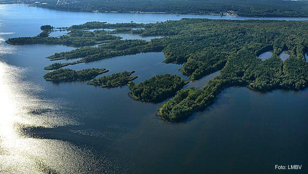 Sperrbereiche Insel Senftenberger See