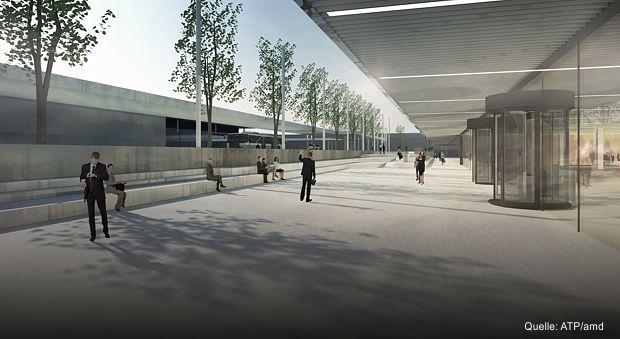 Terminal T2: Ansicht des Vorplatzes des neuen T2 am BER