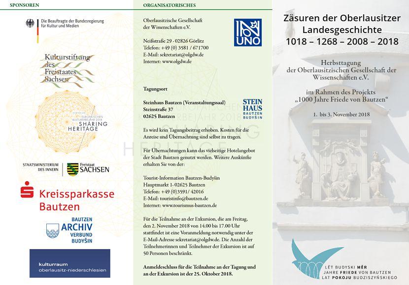 OLGDW-Tagung: Zäsuren der Oberlausitzer Landesgeschichte