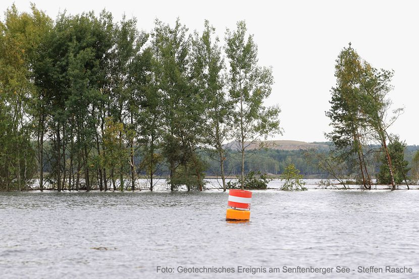 Rutschung im Senftenberger See