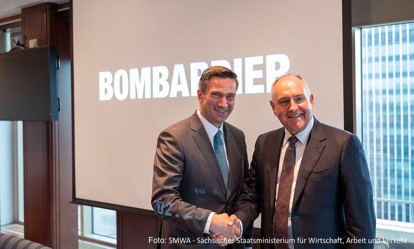 Erfolgreicher Besuch von Wirtschaftsminister MartinDulig in der Firmenzentrale von Bombardier in Montreal Kanada. Der Vorstand gab ein Bekenntnis zum Erhalt der Standorte in Bautzen und Görlitz ab!https://www.lausitz-branchen.de/medienarchiv/cms/upload/2018/september/bombardier-kanada.jpg
