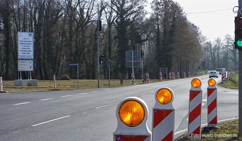 Spatenstich für neuen Kreisverkehr L 49/54 in Vetschau/Spreewald