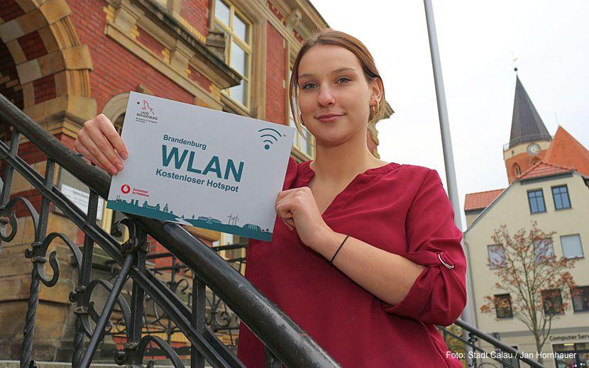 Ab sofort gibt es auf dem Calauer Marktplatz sowie im Rathaus der Stadt freies WLAN.