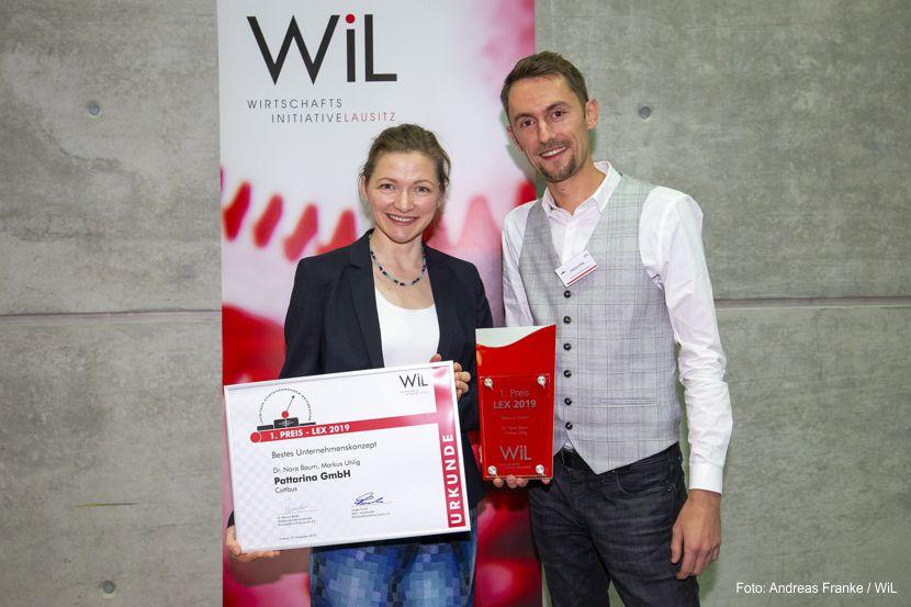 Die Gewinner des LEX 2019, Dr. Nora Baum und Markus Uhlig von der Pattarina GmbH - Foto: Andreas Franke / WiL