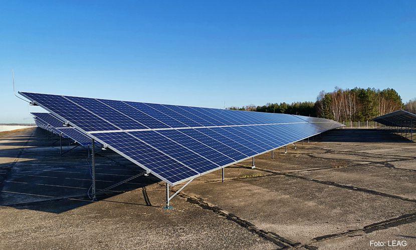 Erster LEAG-Solarpark am Netz