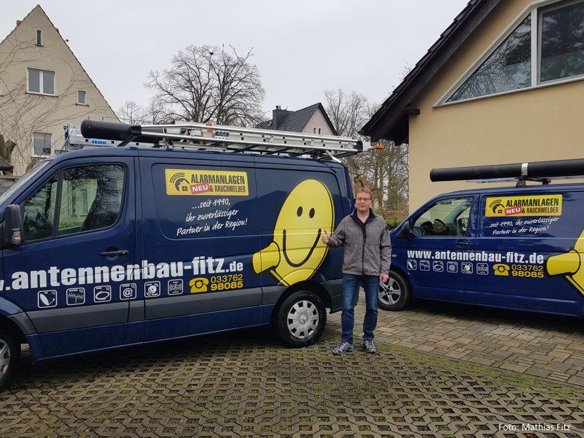 Radio- und Fernsehtechniker Mathias Fitz, Inhaber von Antennenbau Fitz, aus Schulzendorf
