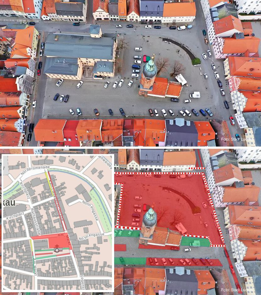 Spatenstich für Marktplatz Luckau