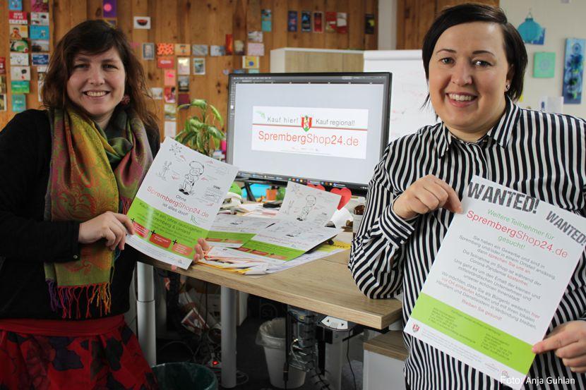 Anja Kießlich von der kiko kreativagentur und Citymanagerin Madlen Schwausch von der ASG Spremberg sind die Initiatorinnen der Sprember
