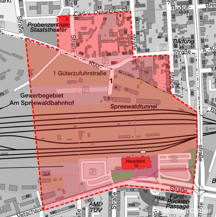 Die Karte zeigt den betroffenen Sperrkreis.