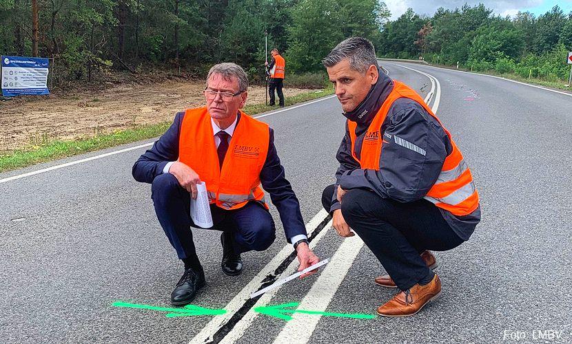 Vollsperrung B97 zwischen Hoyerswerda und Schwarze Pumpe