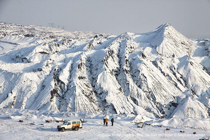Jeeptour in den Tagebau Welzow-Süd im Winter © Siegfried Laumen