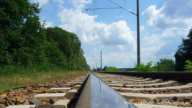 Bahnlinie zwischen Cottbus und Lübben