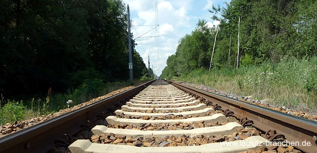 eingleisige Abschnitt zwischen Lübbenau und Cottbus